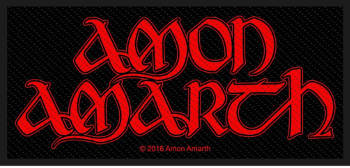 Amon Amarth Red Logo Patch