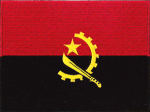 Angola Flag Embroidered Patch