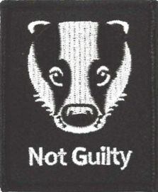 Badger Not Guilty Patch