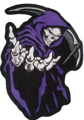 Grim Reaper (Purple) Embroidered Back Patch