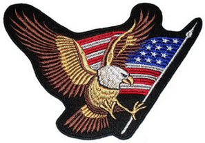 Eagle USA (flag) Embroidered Back Patch