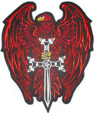 Eagle Sword (Red) Embroidered Back