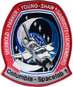 Columbia- Spacelab 1 STS 9 Embroidered Patch