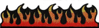 Dancing Flame Embroidered Patch