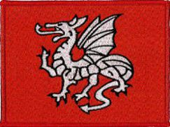 English Pendragon Embroidered Patch