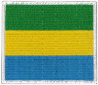 Gabon Flag Embroidered Patch
