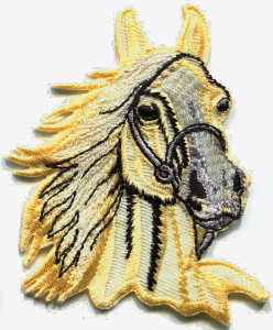 Horse (Yellow/Gold) Embroidered Patch